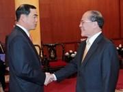 国会主席阮生雄会见国际客人