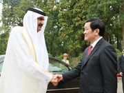 越南国家主席张晋创与卡塔尔国王举行会谈