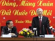 越共中央总书记探访越南通讯社