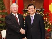 越南国家主席会见亚美尼亚外交部长