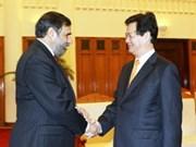 越南政府总理阮晋勇会见印度工商兼纺织部长