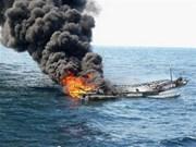 韩国渔船在日本附近海域起火沉没 3名越南船员获救