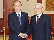 越共中央总书记阮富仲会见缅甸总统吴登盛