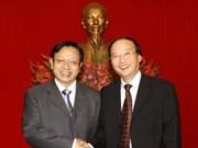 越共中央组织部部长苏辉锐会见中国共产党代表团