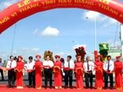 阮晋勇总理出席后江省渭清市至芹苴市公路竣工仪式