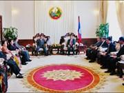 老挝政府副总理接见来访的越南客人