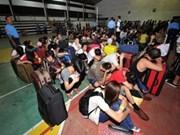 菲律宾电话诈骗案350名嫌疑人被捕