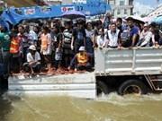 泰国曼谷成功测试排洪系统