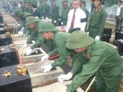 从老挝和柬埔寨迁回30,583具越南烈士遗骸