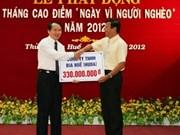 越南党和国家一直主张关照贫困者