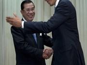 柬美加强双边关系