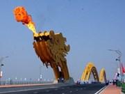 岘港市跨韩江的龙桥和陈氏李桥竣工通车
