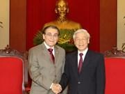 越共中央总书记阮富仲会见巴西共产党主席一行