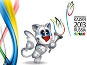 越南代表团参加2013年世界大学生运动会