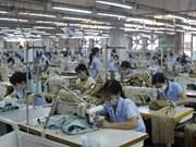 越南纺织服装品出口韩国大幅增加