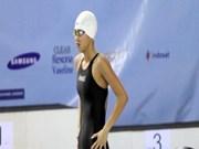 越南游泳名将阮氏映圆参加第15届世界游泳锦标赛