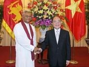 越南国会主席阮生雄与斯里兰卡议会议长举行会谈
