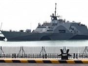 新加坡与美军海军举行年度海上联合军演