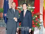 越南国家主席张晋创与新西兰总督举行会谈