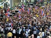 数千名泰国人继续举行集会 反对下议院通过特赦法案
