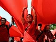 泰国红衫军发动大型集会支持政府