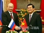 张晋创主席与俄总统普京举行会谈