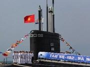 "HQ182-""河内""号基洛级潜艇举行升旗仪式"