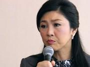 """英拉总理呼吁谈判 反对派领袖声称继续""""封锁曼谷""""行动"""