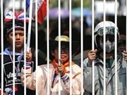 泰国首都曼谷示威地点发生爆炸 数百名农民继续上街游行