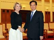 阮晋勇总理会见澳大利亚外长