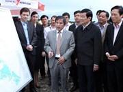 越南国家主席张晋创赴富安省调研