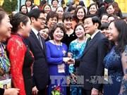 张晋创主席会见模范女企业家