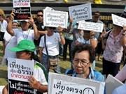 泰国人民支持看守政府同反对派谈判解决政治危机