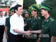 越南国家主席张晋创莅临薄辽与金瓯两省调研