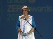越南向联合国儿童基金会驻越代表处首席代表授予纪念章