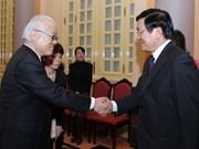 越南国家主席张晋创接见日本参议员