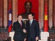 张晋创主席会见老挝国会副主席