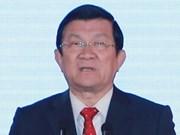 张晋创主席出席越南高级代表团与日本大型集团座谈会
