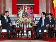 越南国家主席张晋创会见挪威王储哈康