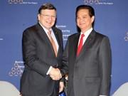 越南政府总理阮晋勇会见欧洲委员会主席