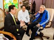 古巴领袖菲德尔·卡斯特罗会见越南政府总理阮晋勇