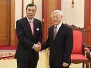 阮富仲总书记会见中国驻越大使孔铉佑