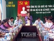 国会副主席阮氏金银赴宁顺省调研指导工作
