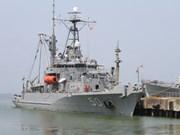 美国海军军舰抵达仙沙港 进行6天例行交流活动