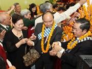 老挝驻越大使馆欢庆泼水节