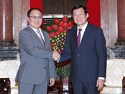 越南国家主席会见蒙古国总检察长