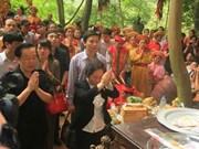 越南国家副主席阮氏缘出席宁平省陈庙开会仪式
