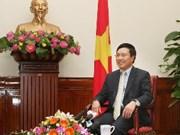 范平明副总理会见中国文化部长蔡武