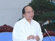 阮春福副总理视察越南1A号国道广平省路段扩建项目施工进度
