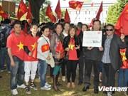 旅居比利时越南人举行游行活动反对中国非法行为
